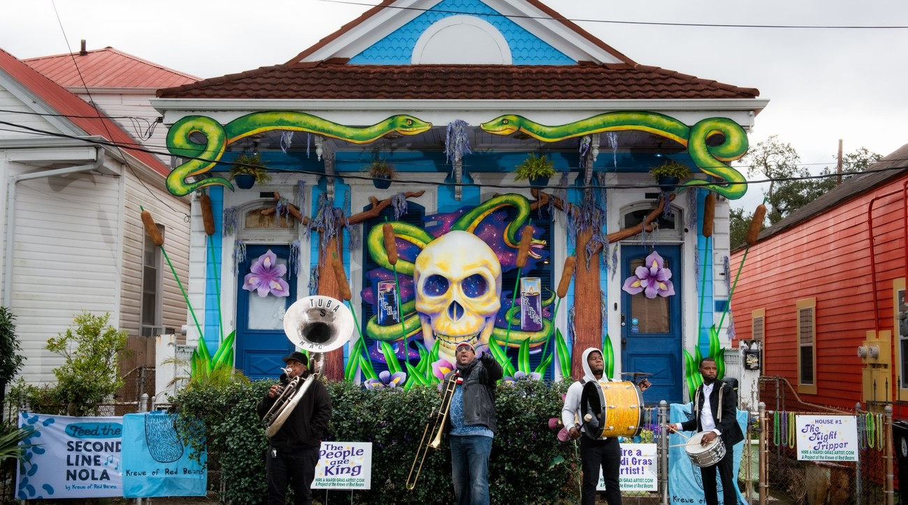 Krewe of Red Beans Hire a Mardi Gras Artist