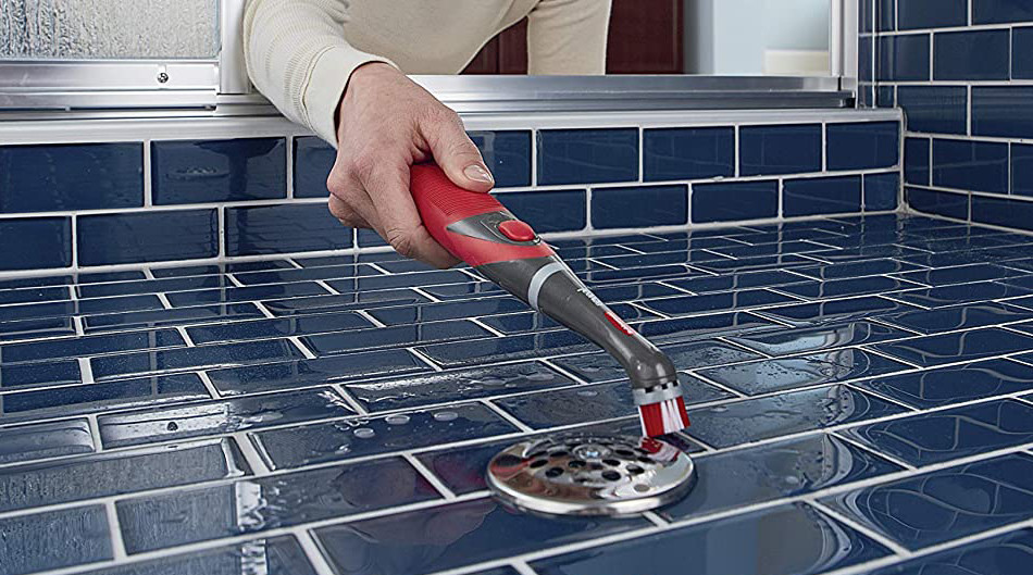 Rubbermaid Power Scrubber with All-Purpose Grout Head
