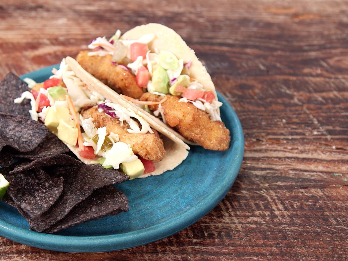 BBQ Fried Catfish Tacos Still Image