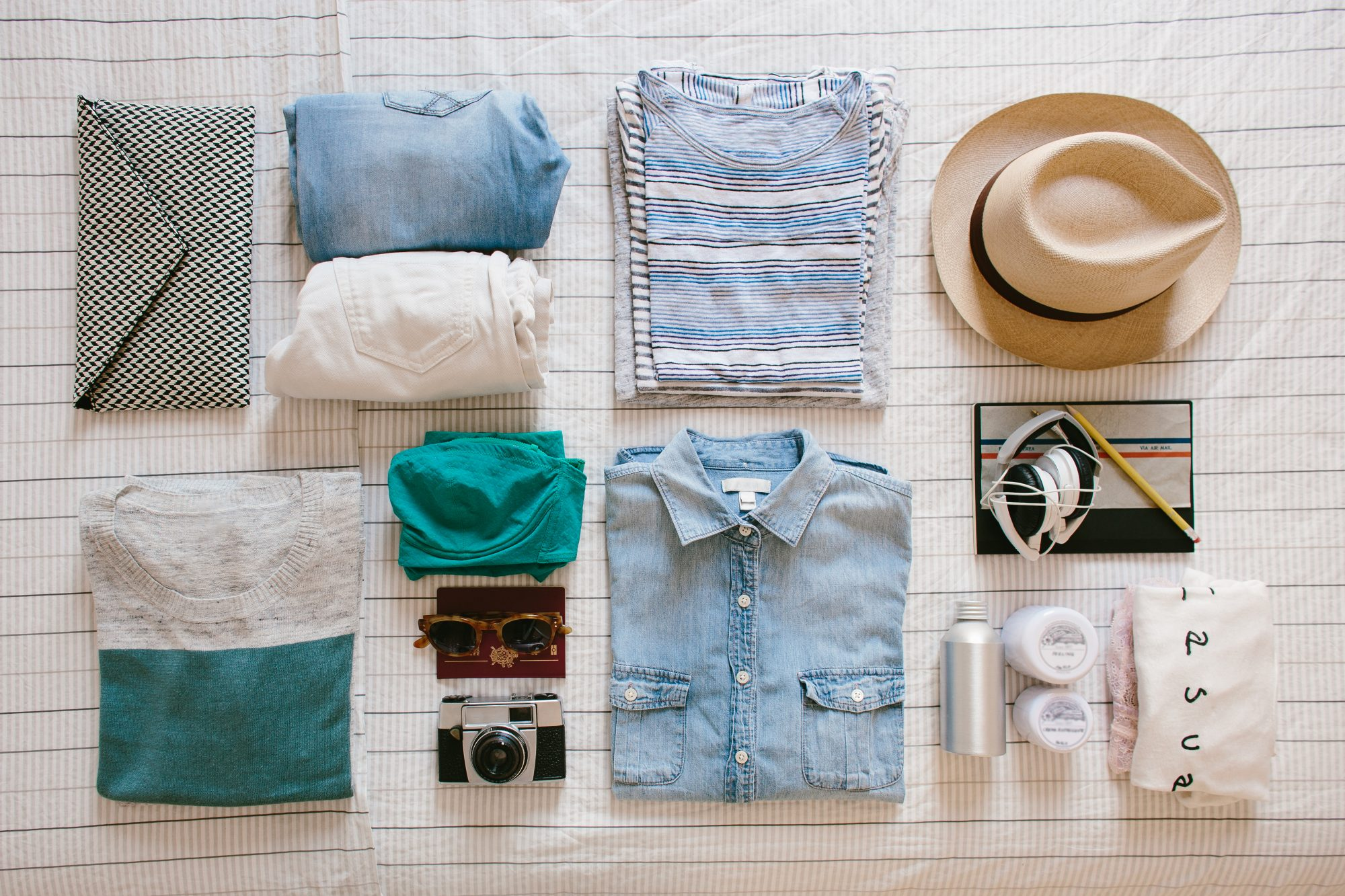 Getty Clothes On Bed Packing Image