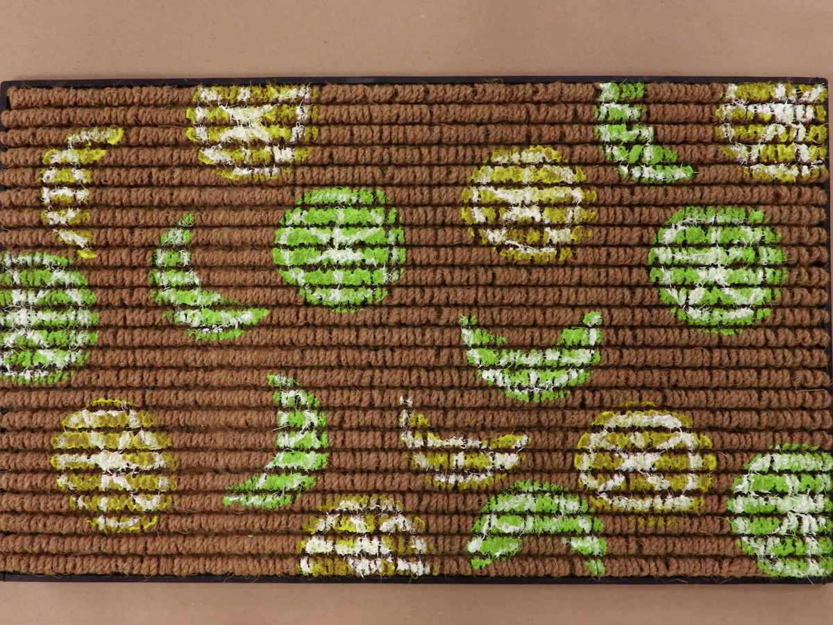 Lemon and Lime Stamped Doormat Image