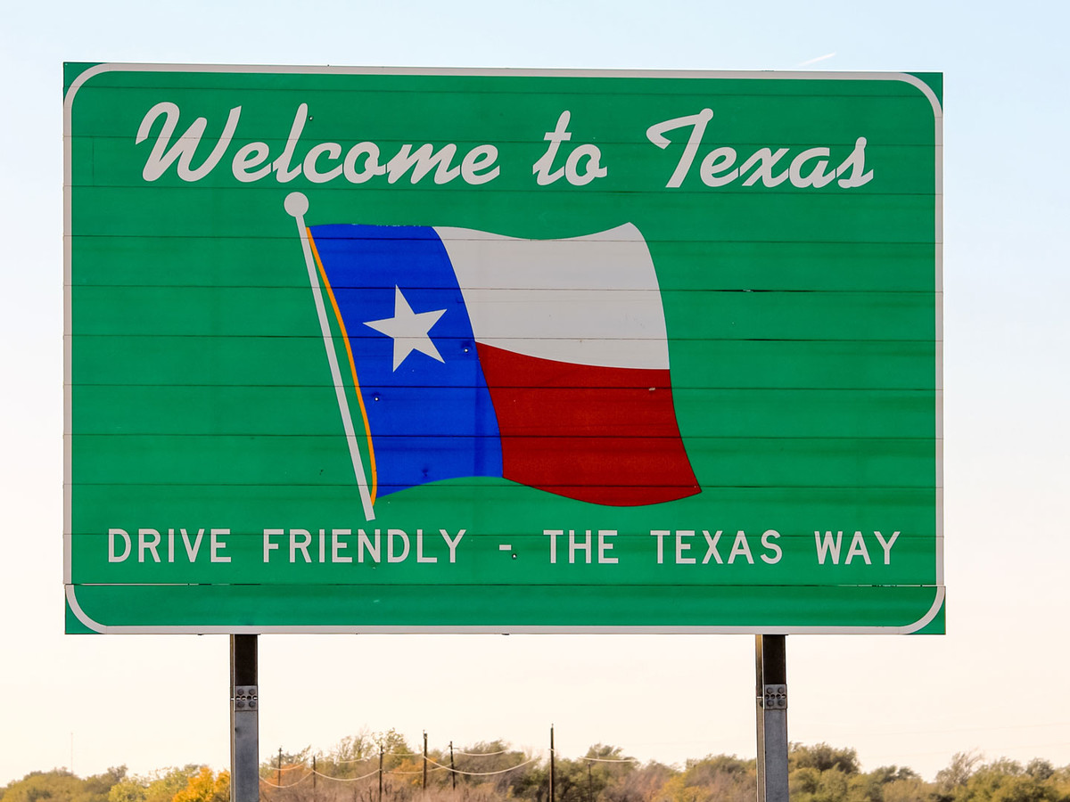 Welcome To Texas Sign Image