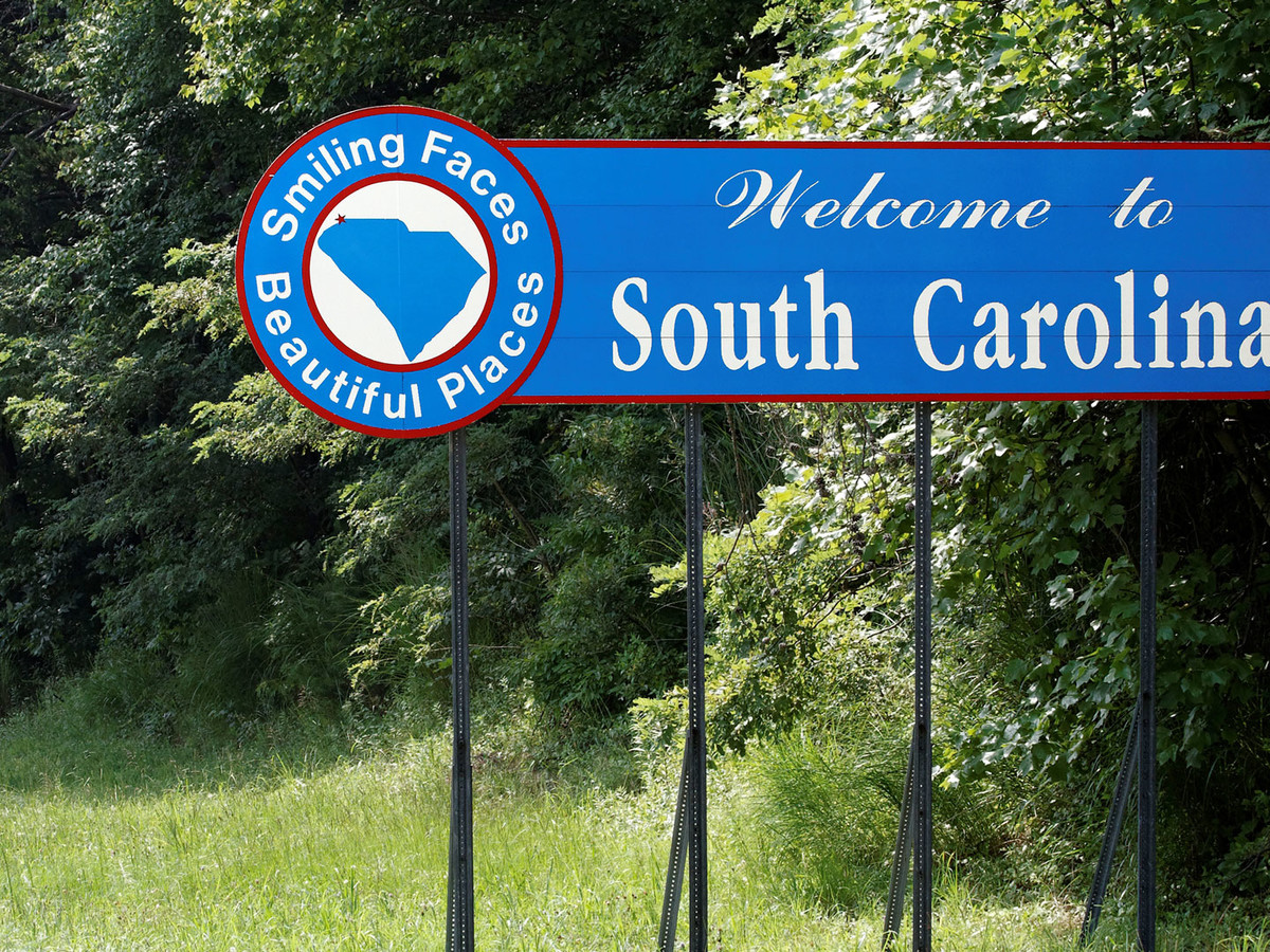 Getty Welcome To South Carolina Sign Image