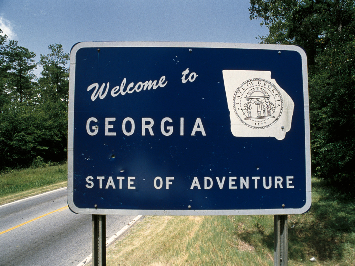 Welcome To Georgia Sign