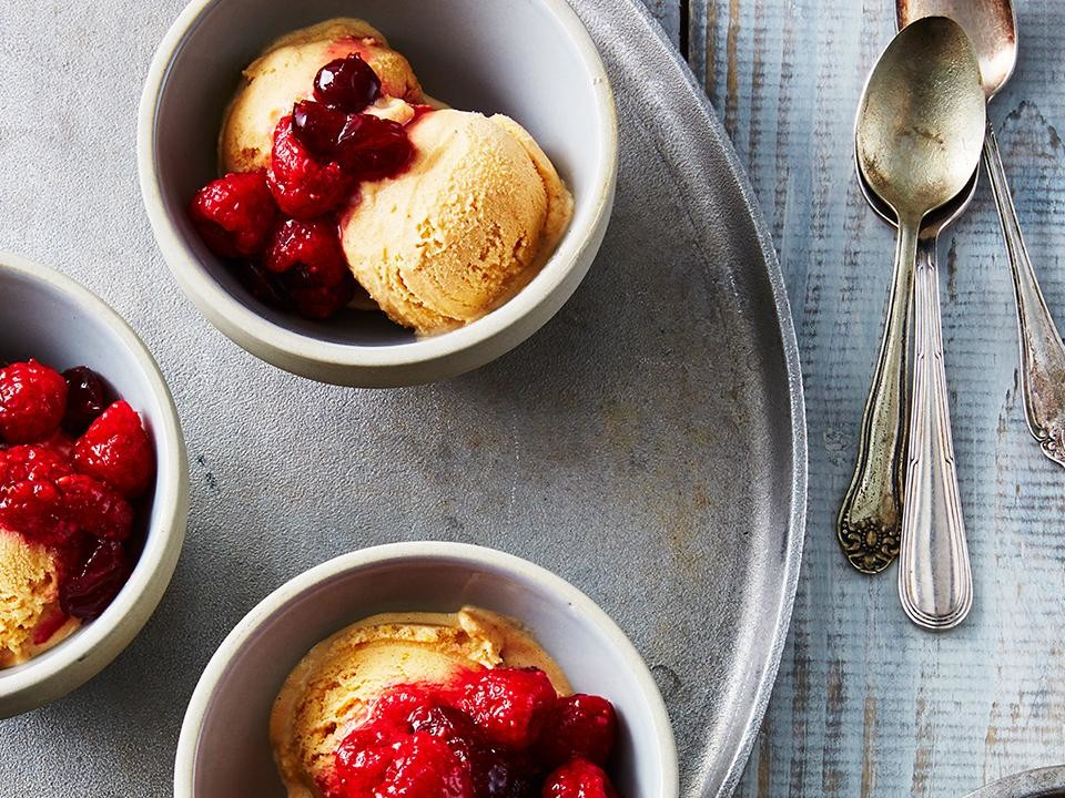 Real Simple Pumpkin Cranberry Ice Cream