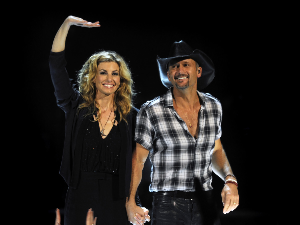 Tim McGraw and Faith Hill perform live in concert at the Rod Laver Arena on March 20, 2012, in Melbourne, Australia.