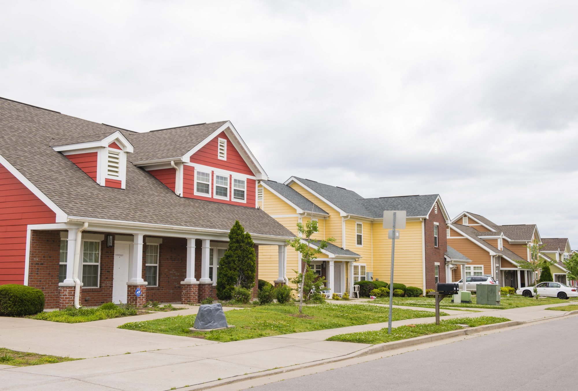 Nashville Homes in a Row