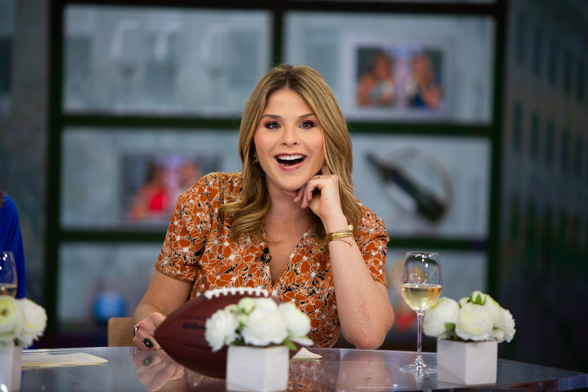 Jenna Bush Hager with Football