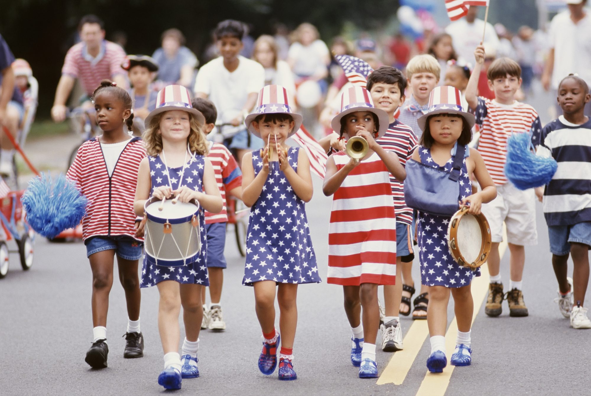 Kids in Patriotic Outfits