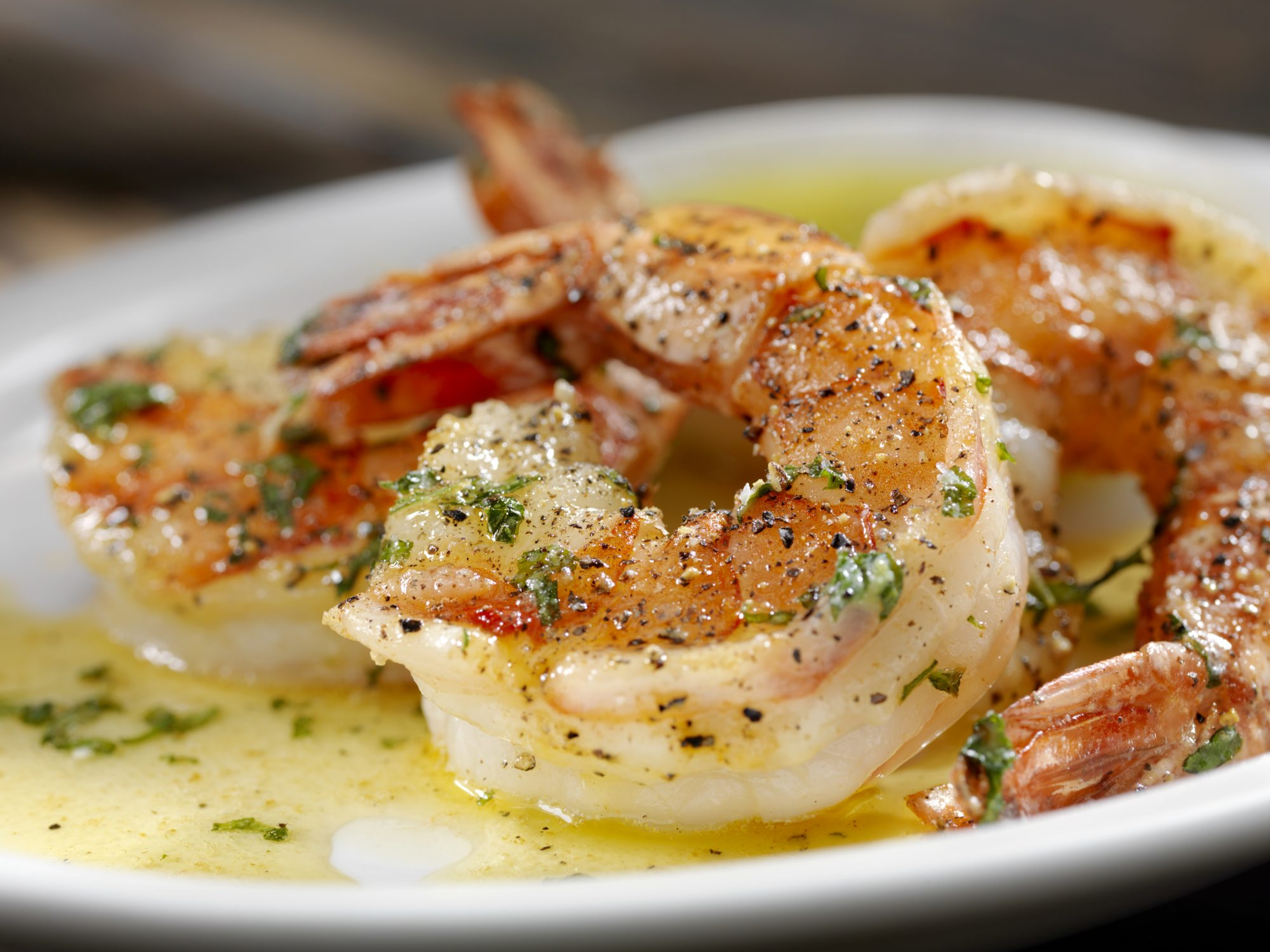 Shrimp in Butter on Plate