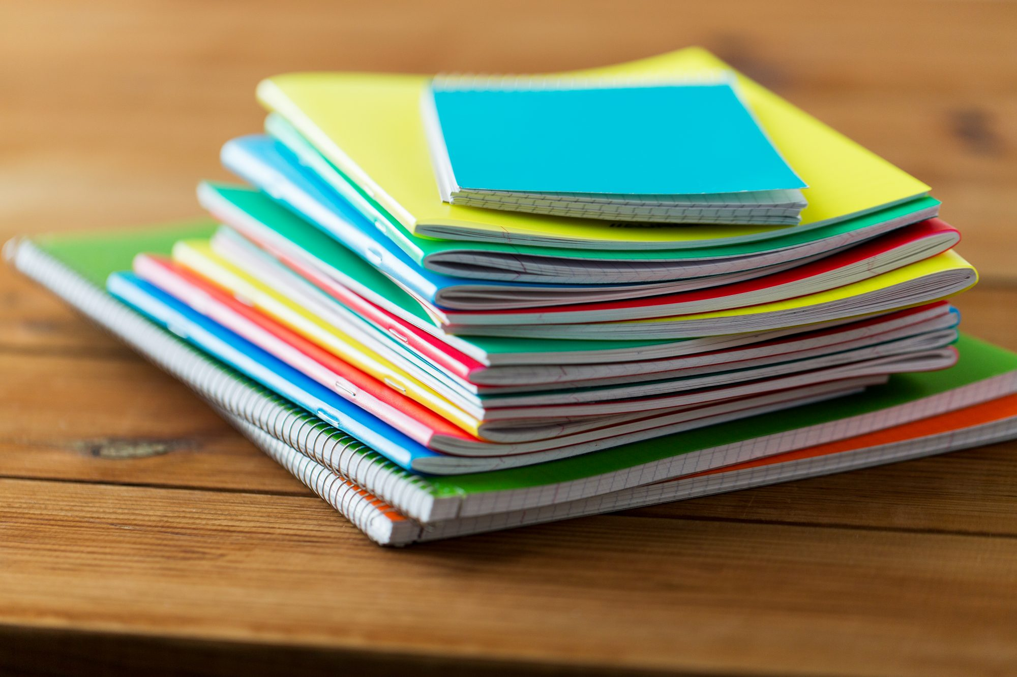 Notebooks in a Stack
