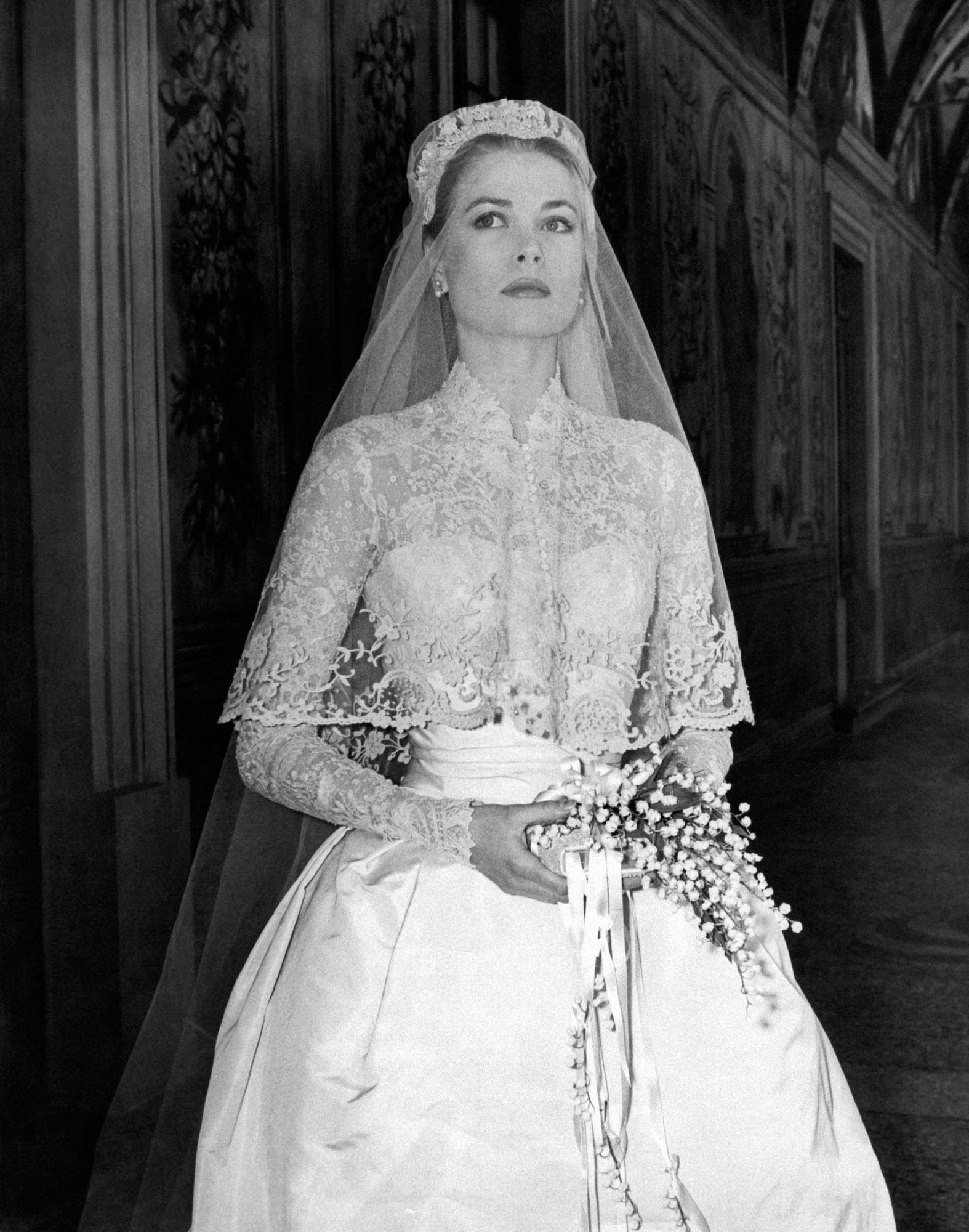 Grace Kelly Wedding Dress and Veil