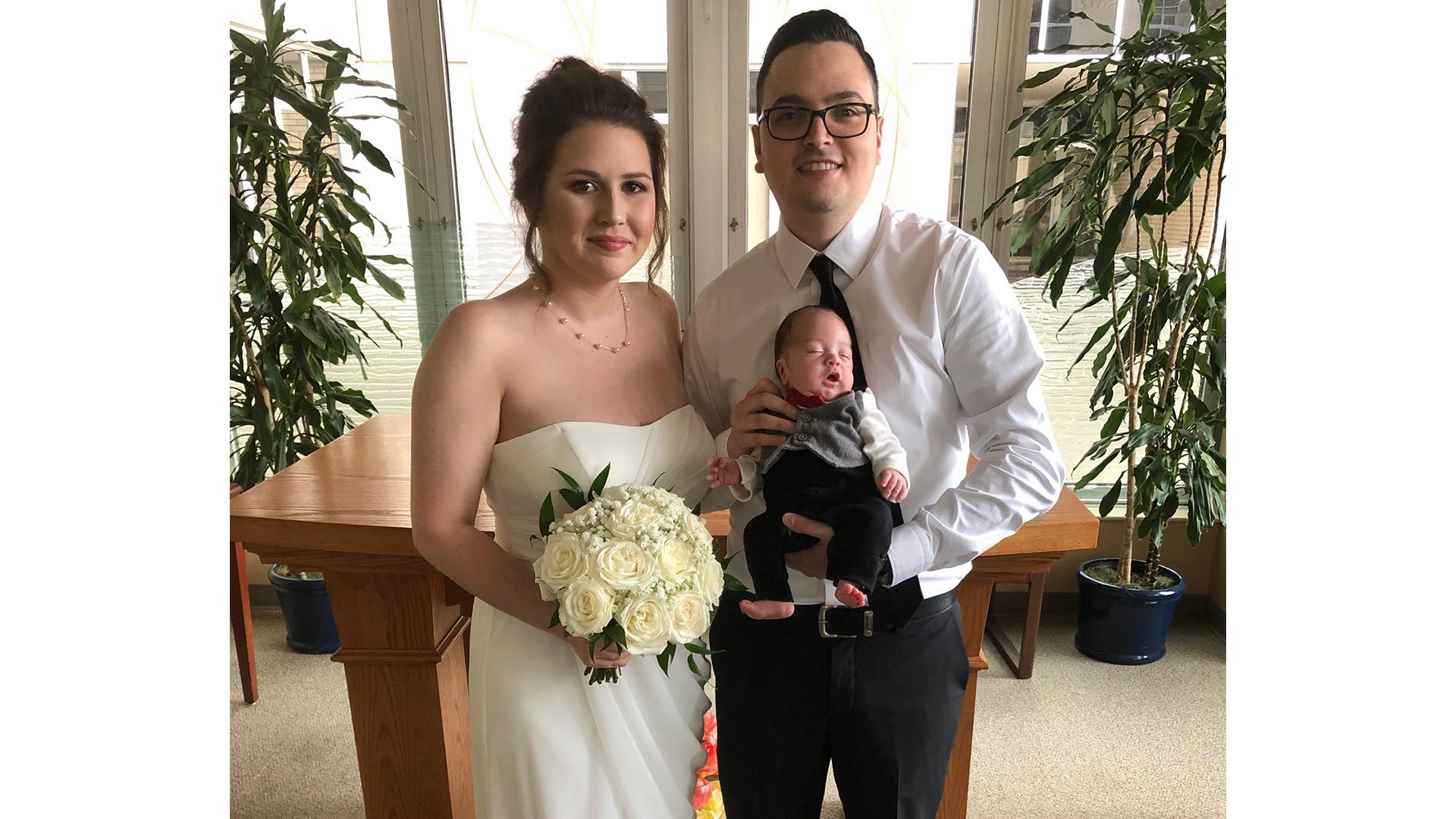 NICU Wedding Family Portrait