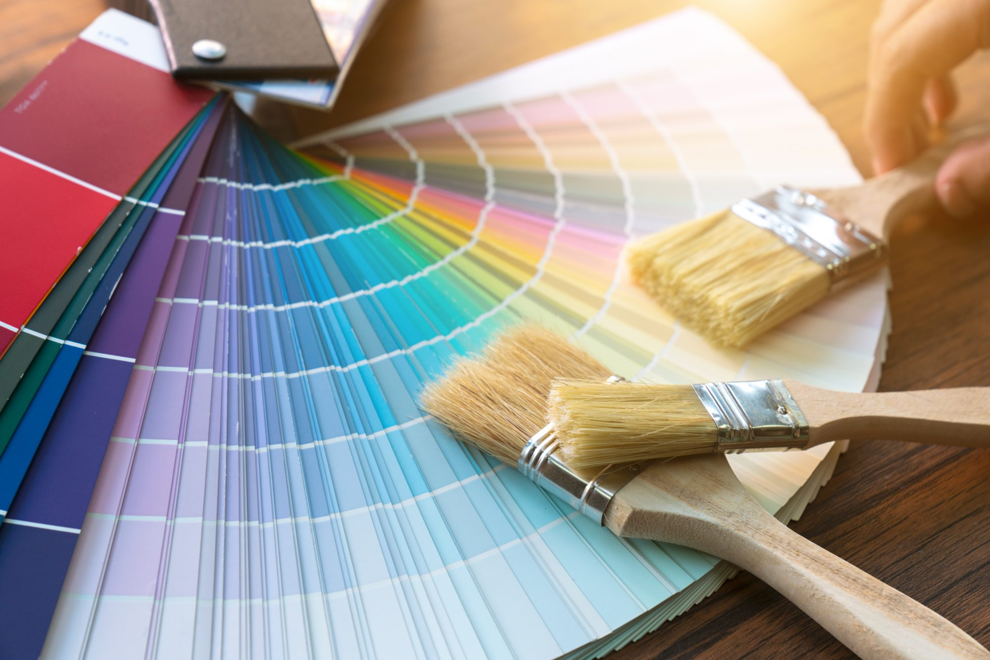 Paint Color Swatches and Brushes