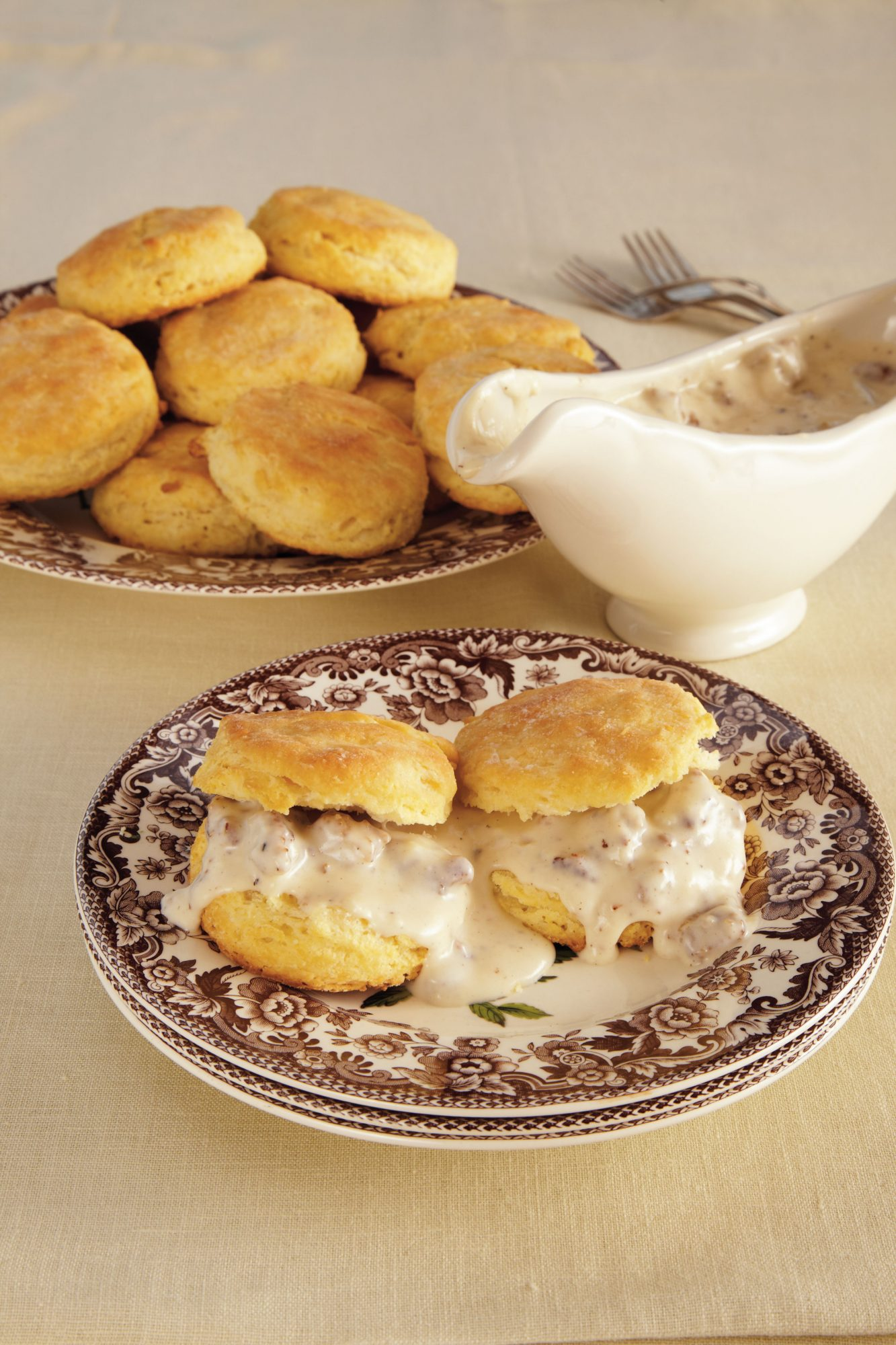 Sausage Gravy and Biscuits