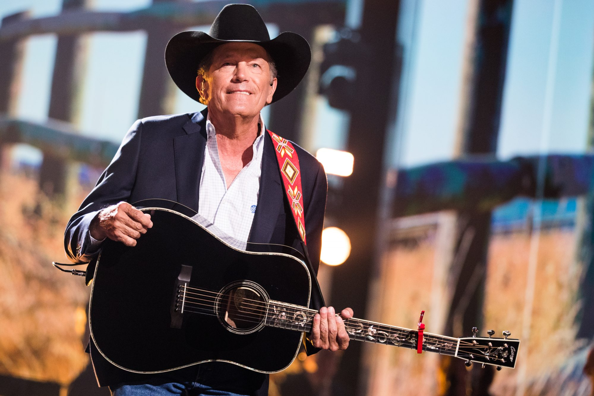 George Strait and Guitar