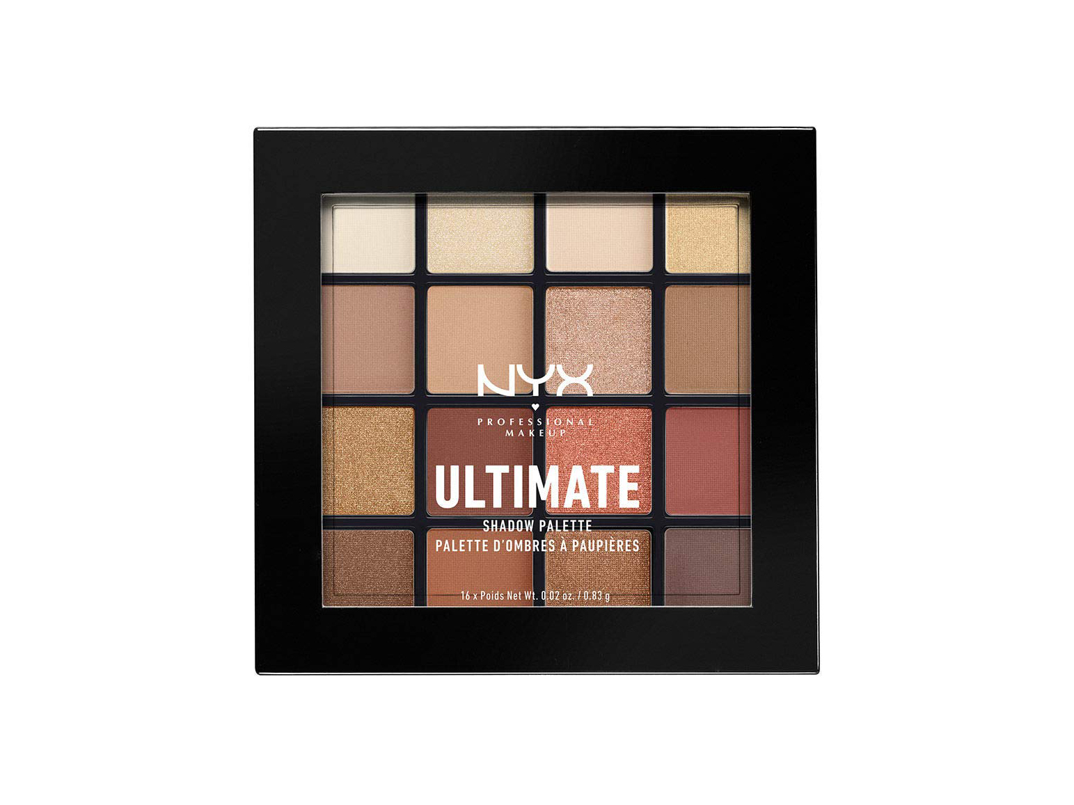 NYX Ultimate Shadow Palette, Eyeshadow Palette, Warm Neutrals