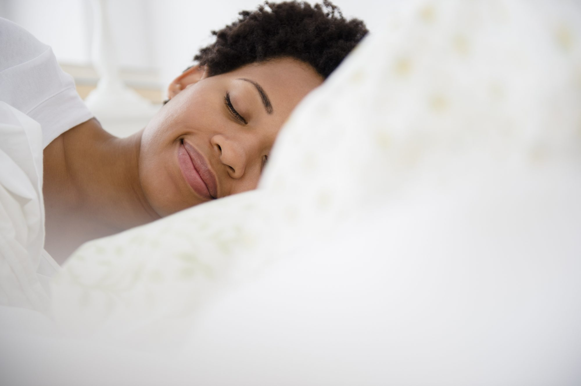 Woman Sleeping and Smiling