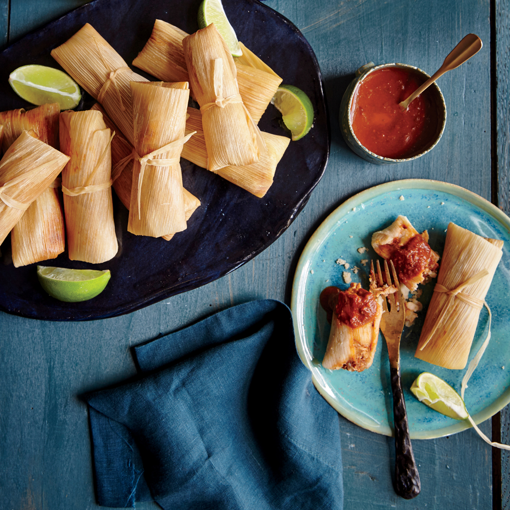 Chicken Tamales with Ranchero Sauce