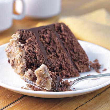 Bourbon-Chocolate Cake With Praline Frosting