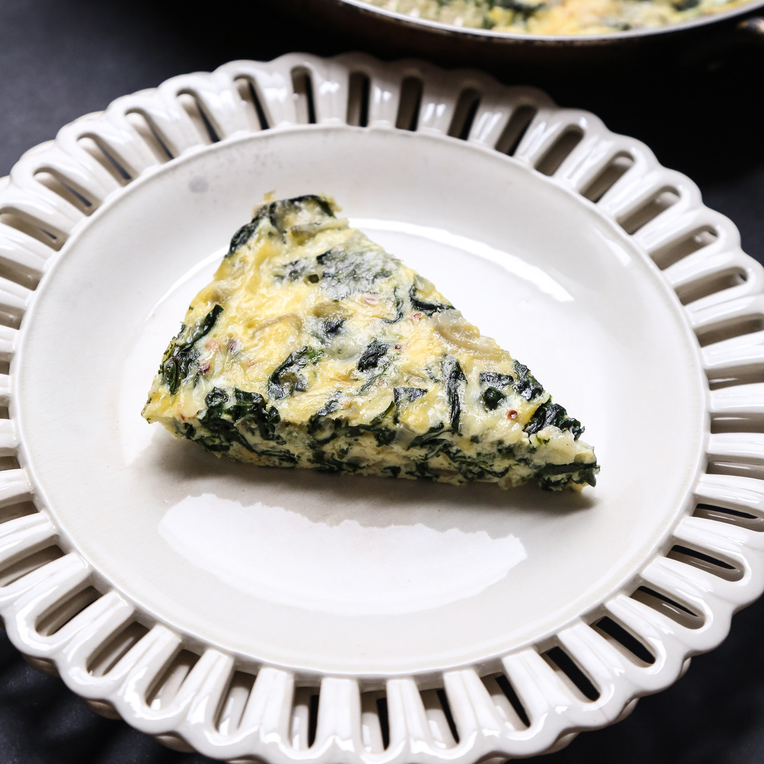 Crustless Quiche with Spinach and Shallots
