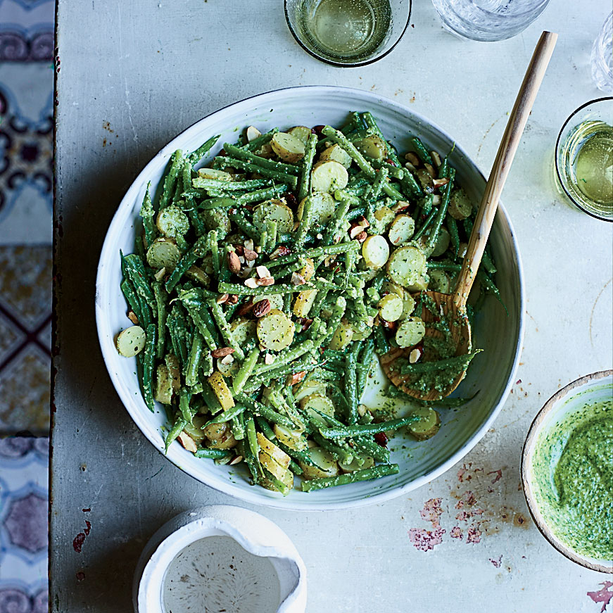 Haricots Verts and Potato Salad with Pesto