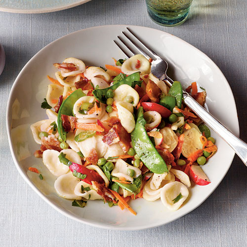 Springtime Pasta with Bacon