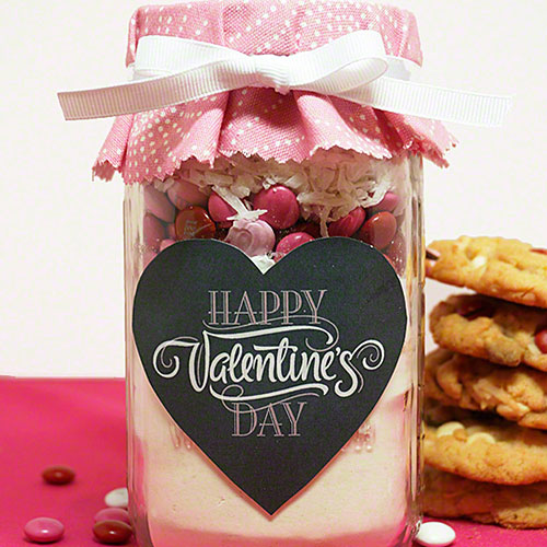 Valentine's Day Mason Jar Cookies