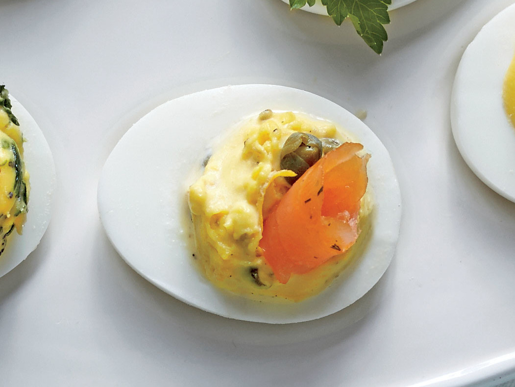 Smoked Salmon, Lemon, and Capers Eggs