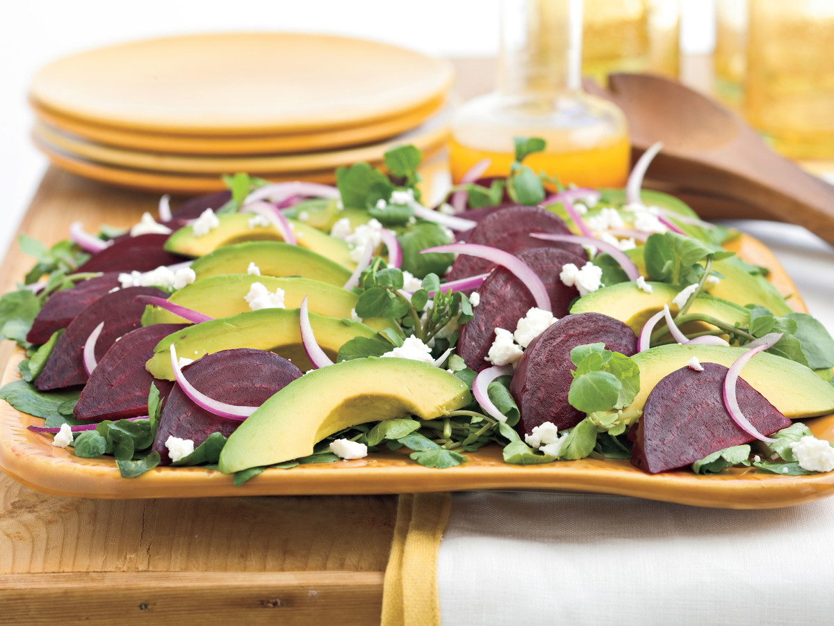 Beet, Goat Cheese, and Avocado Salad