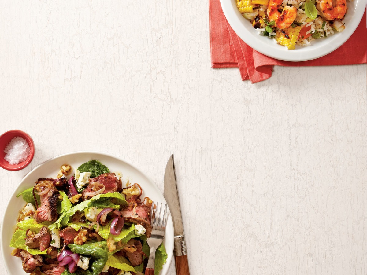 Grilled Steak Salad with Walnut Dressing