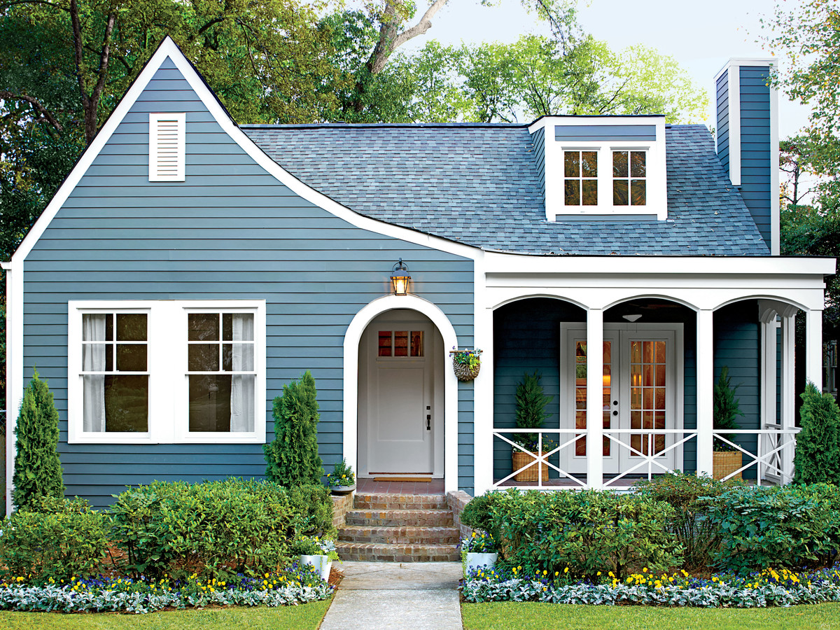 Blue Exterior Homewood Cottage