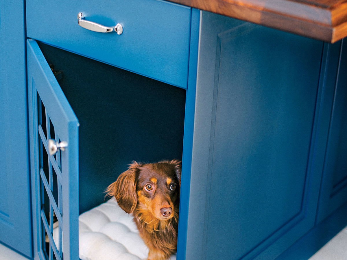 Kitchen Island Dog Nook