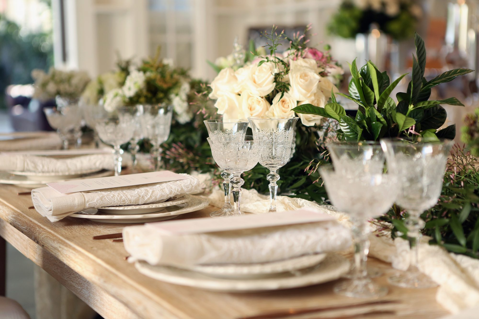 Wedding Registry Table Setting