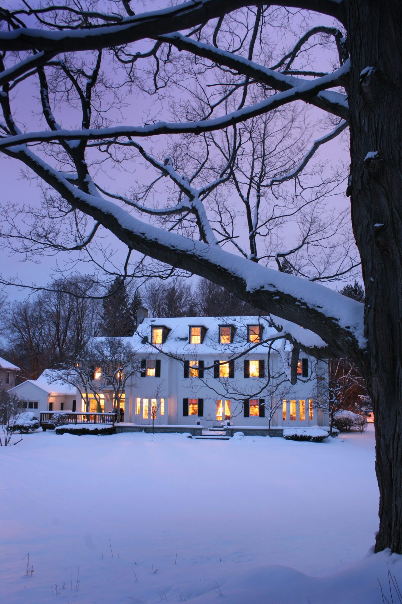 Snow Covered Home