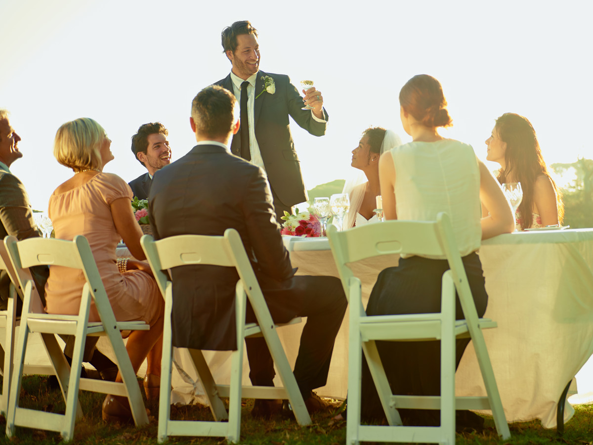 Man Making Wedding Speech