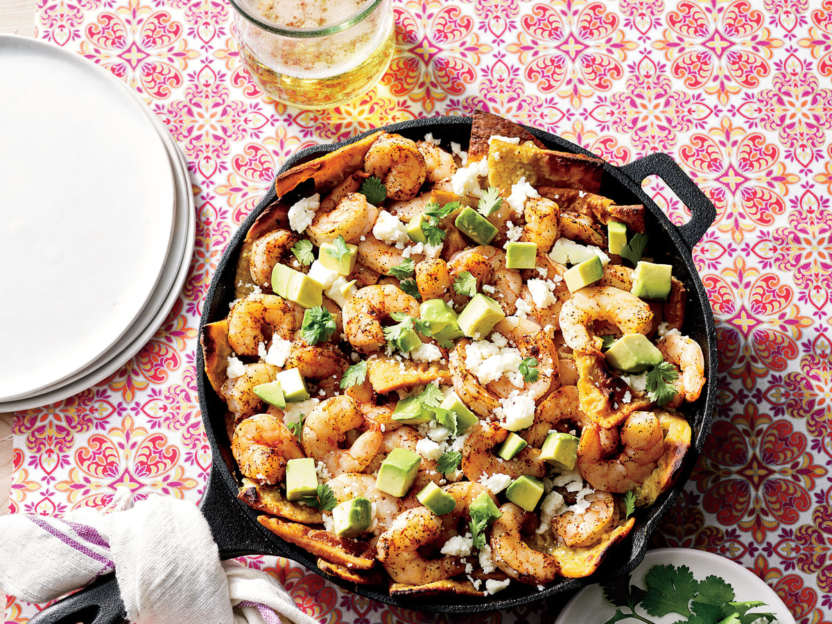Skillet Shrimp Chilaquiles