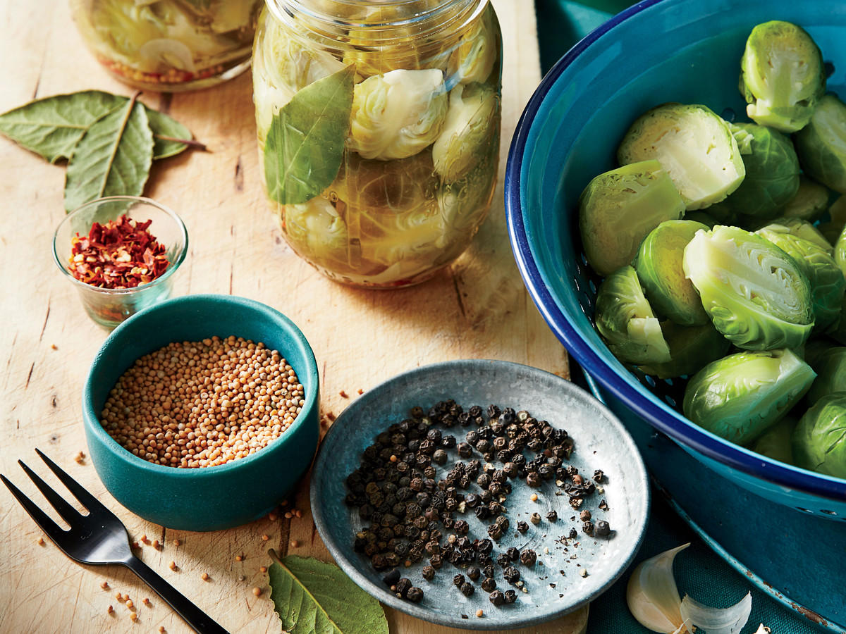 Traditional Quick-Pickled Brussels Sprouts