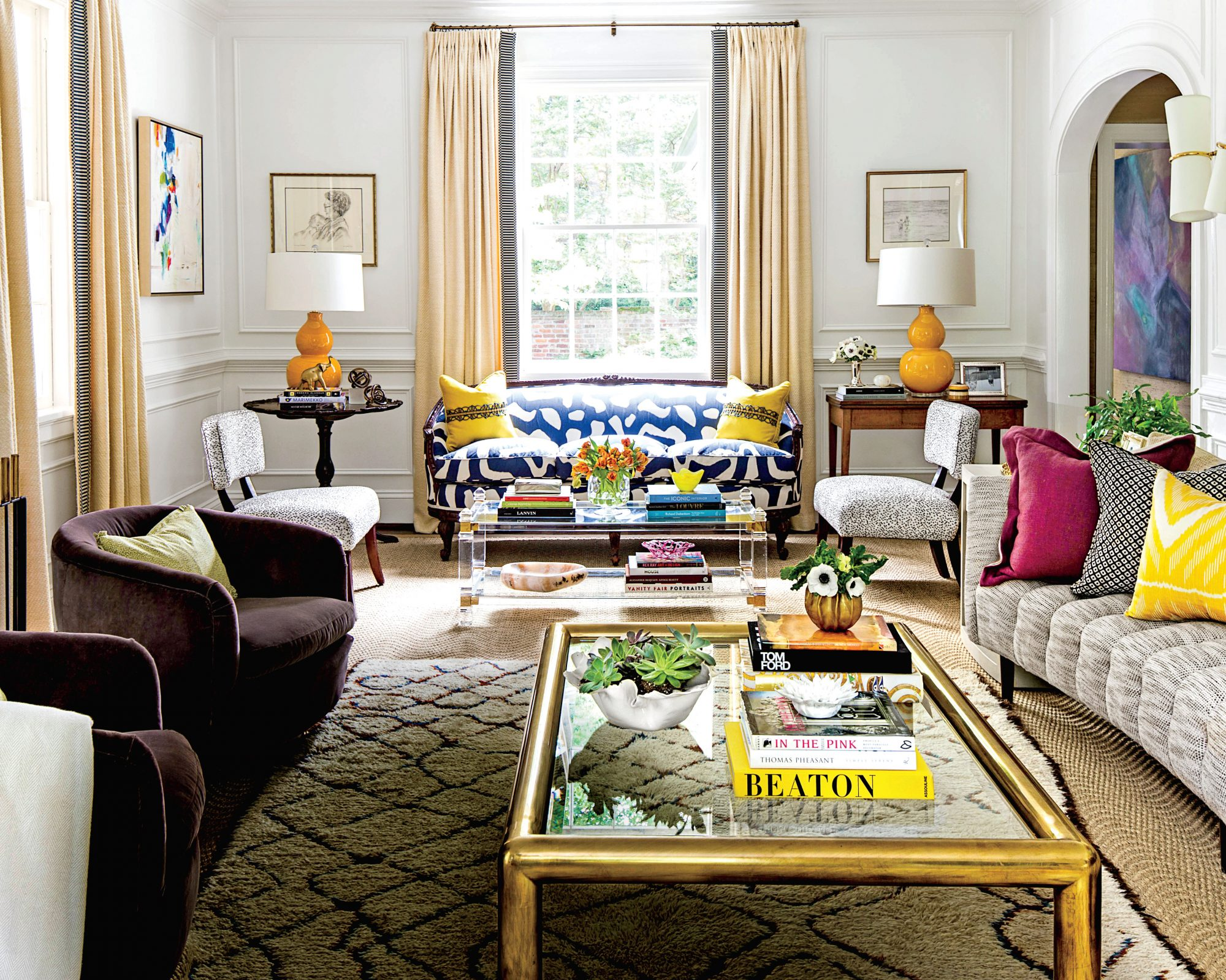 Bold Patterns in Small Living Room