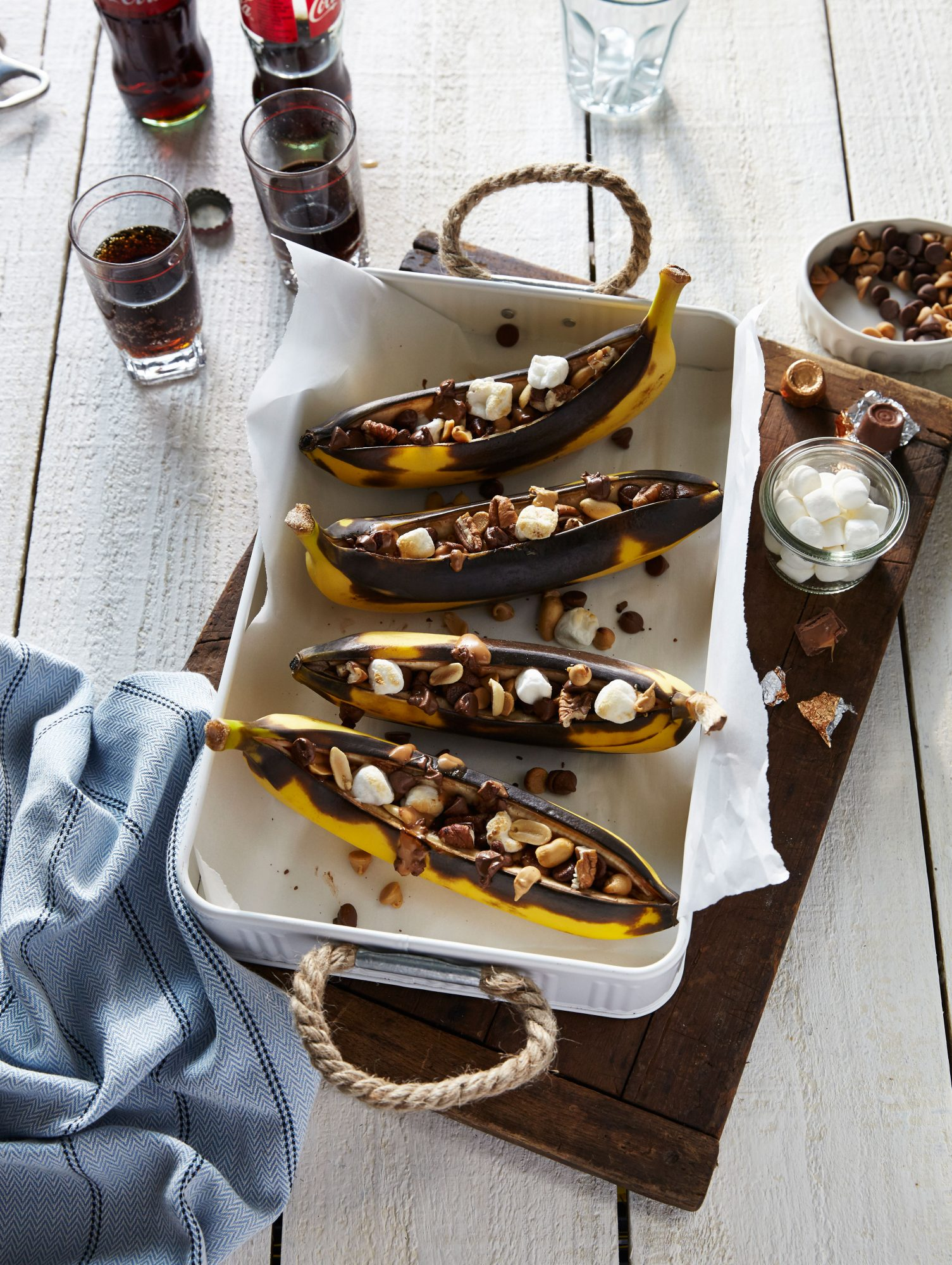 Grilled Stuffed Bananas