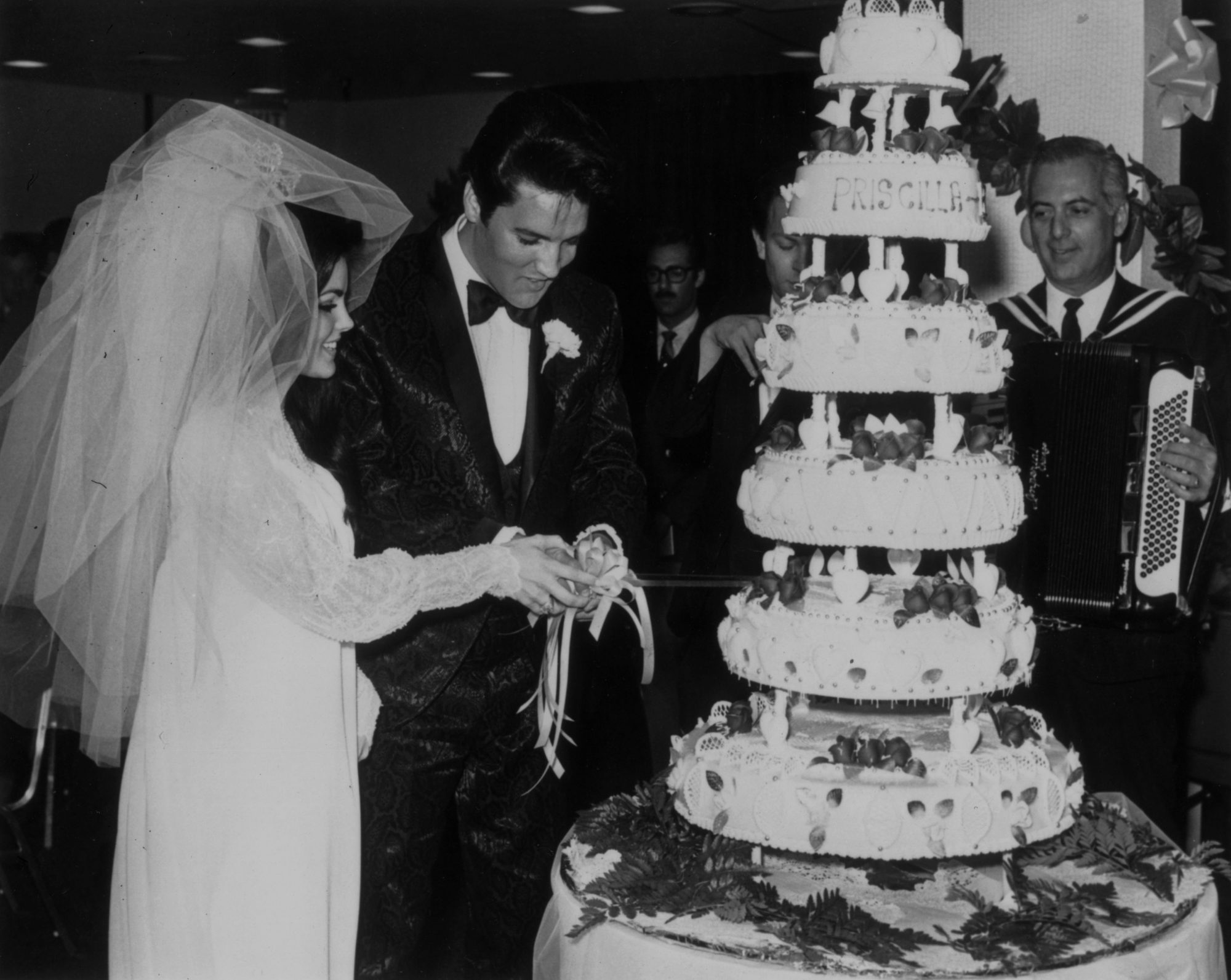 Elvis and Priscilla Wedding Cake