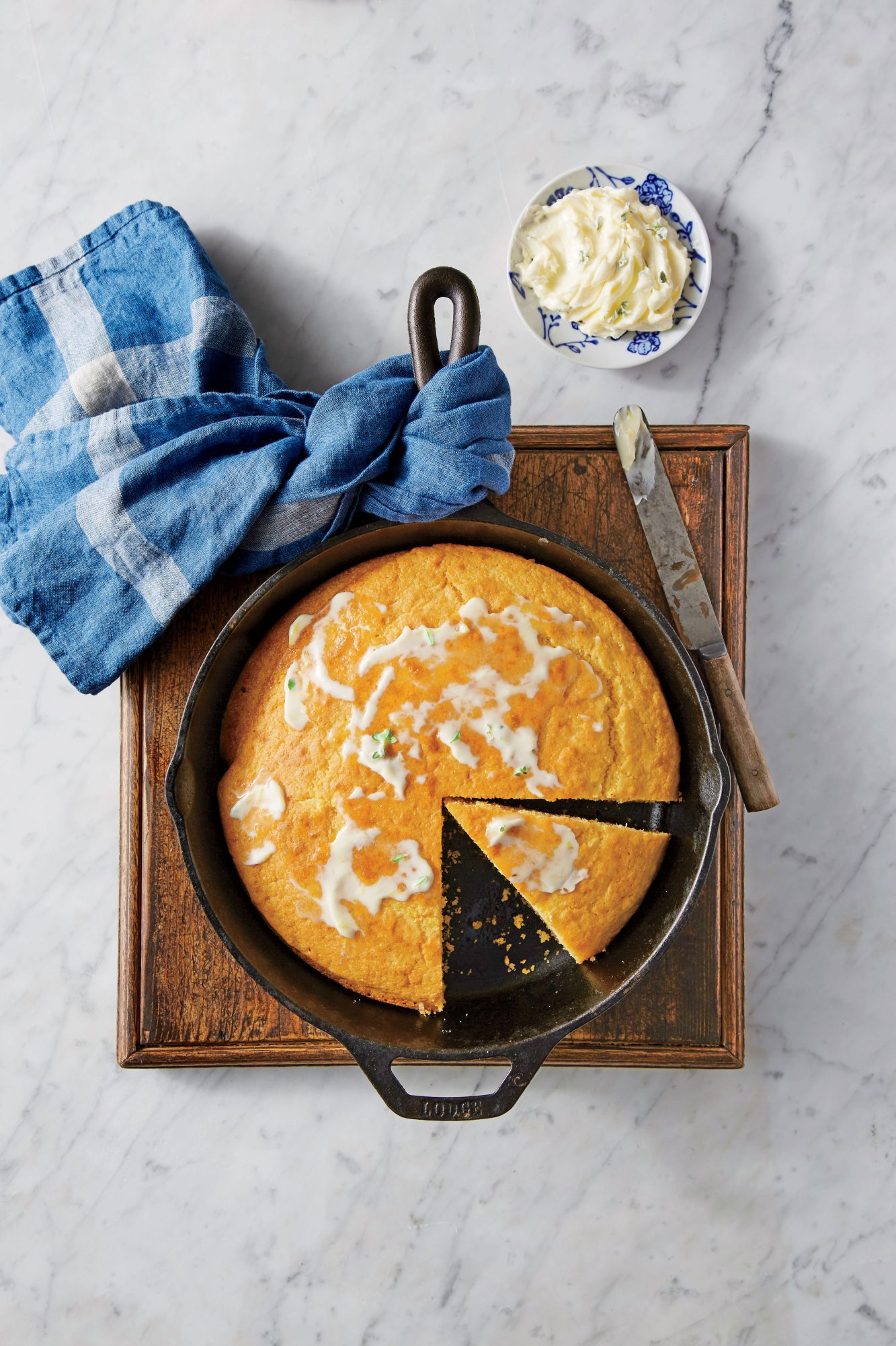 Cornbread with Lemon-Thyme Butter