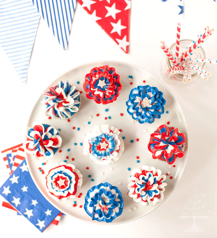 4th of July Swirled Cupcakes