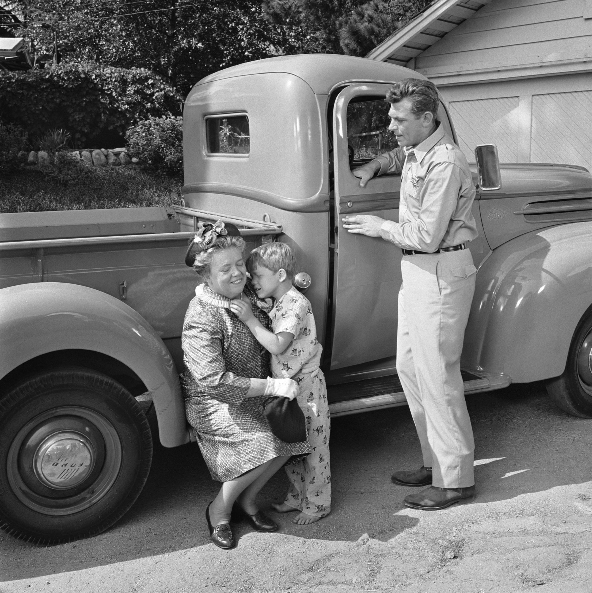 Aunt Bee, Opie, and Andy from The Andy Griffith Show