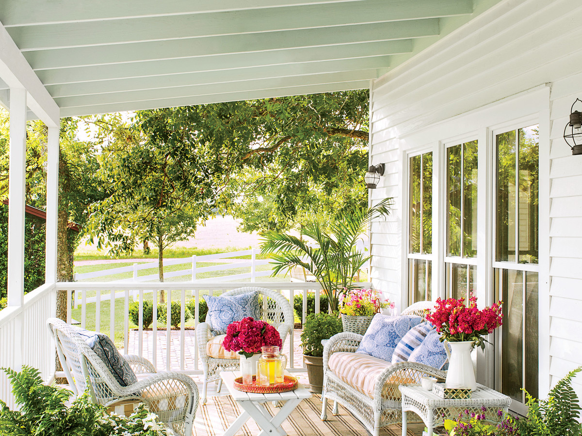 Surround Your Seating Area with Beautiful Blooms