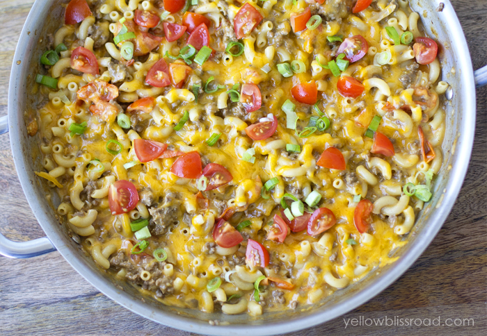One Pan Taco Macaroni and Cheese