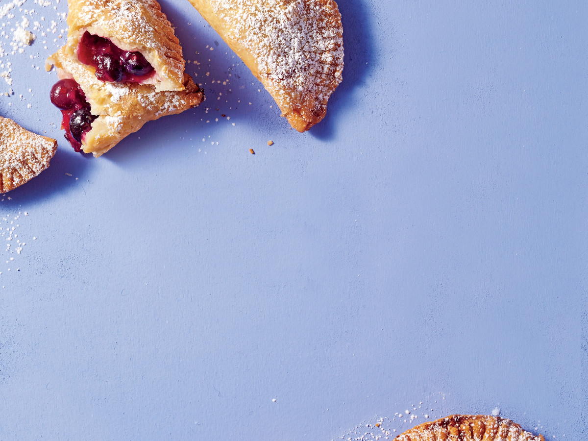 Fried Blueberry-Ginger Hand Pies