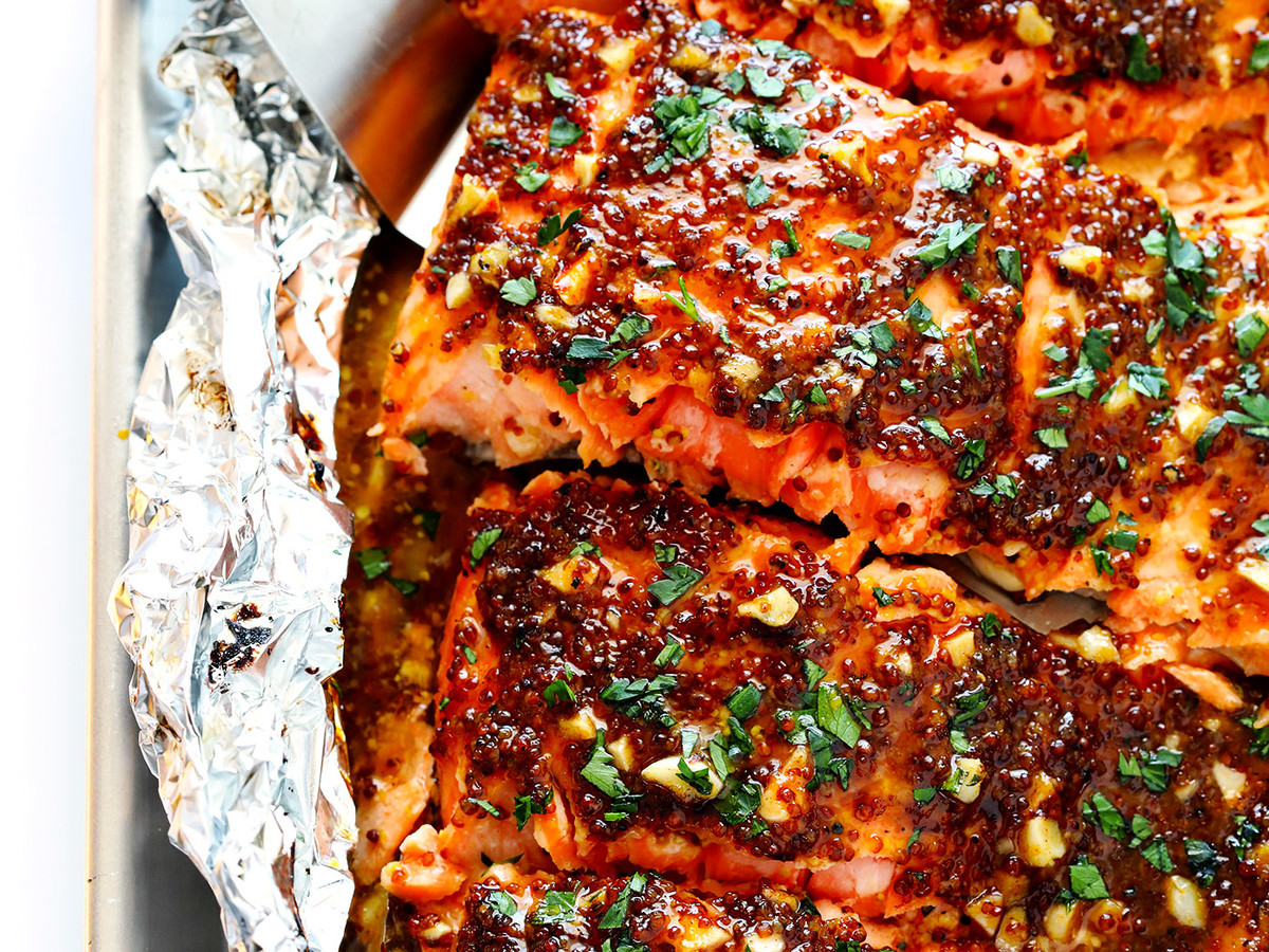 Honey Mustard Salmon in Foil