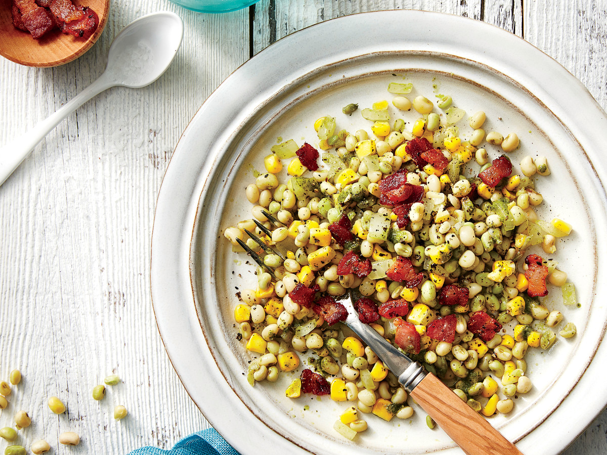 Field Pea, Corn, and Bacon Salad