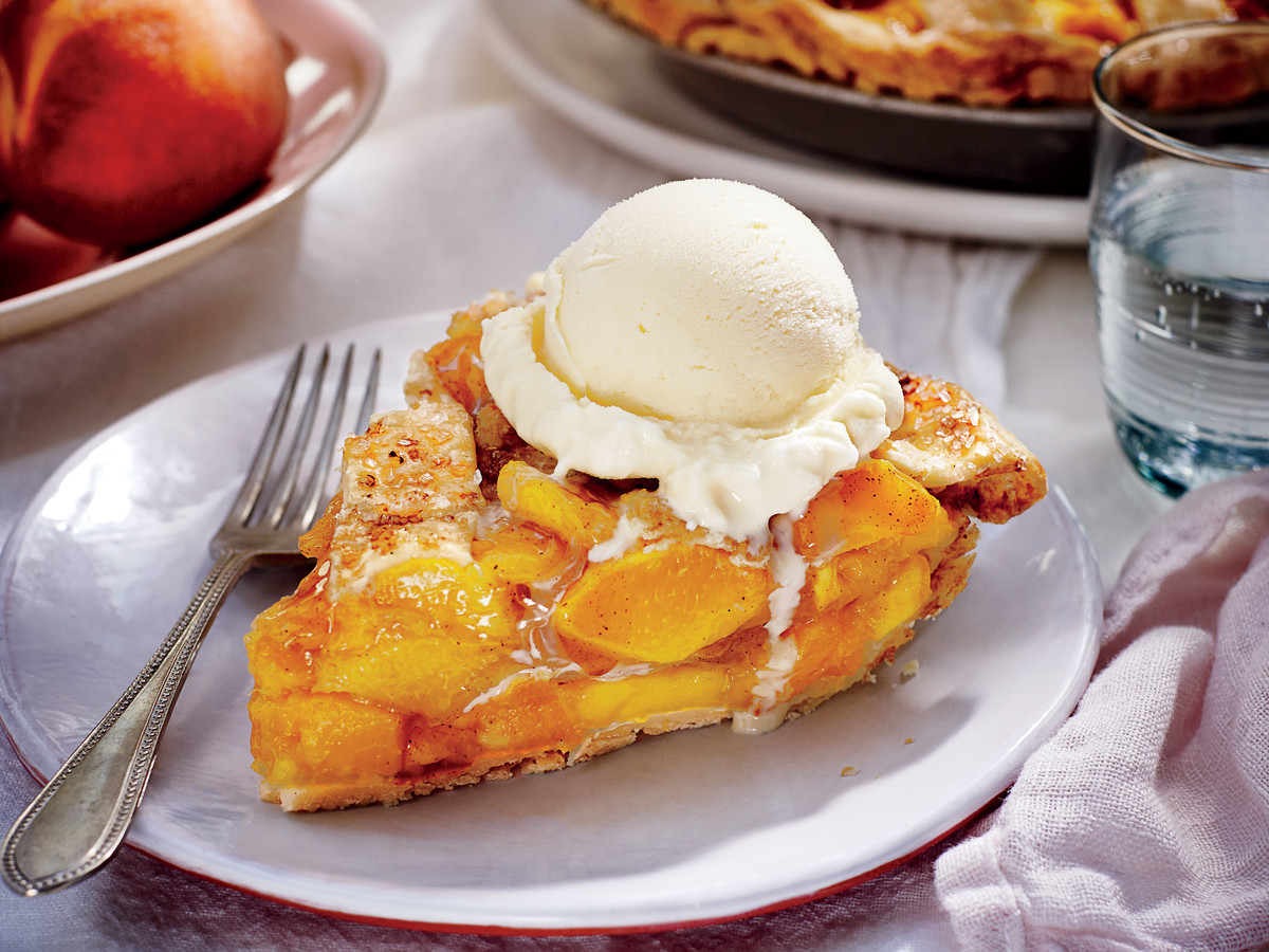 Freezer Peach Pie